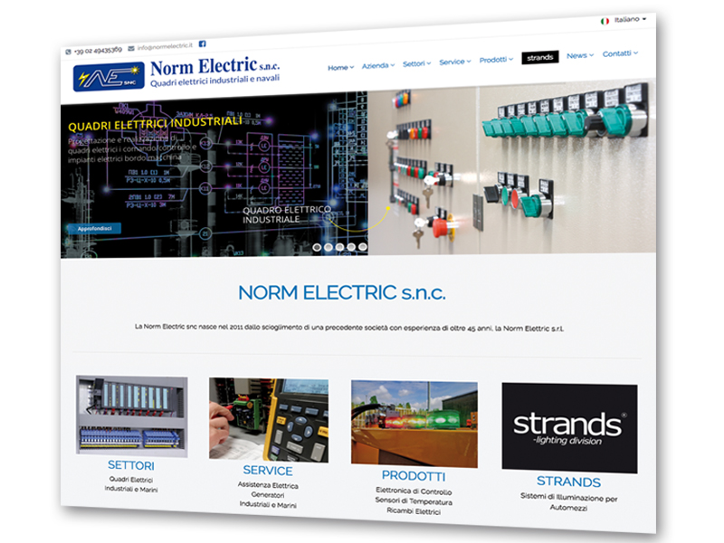 Nuovo sito Norm Electric on line